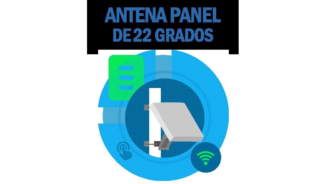 Antena Panel de 22 grados